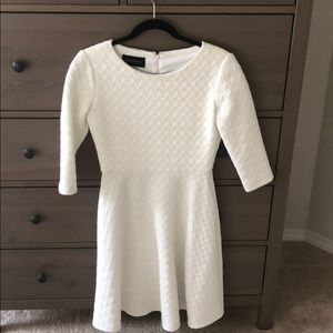 White Donna Morgan chevron sweater dress